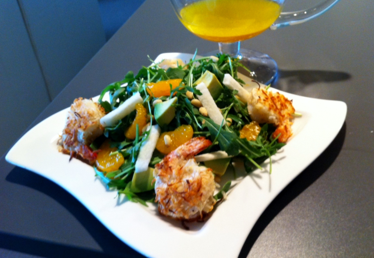 Coconut Encrusted Shrimp paired with an Arugula Jicama Salad | MissFit ...
